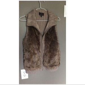 Jackets & Blazers - Faux Fur Sweater Vest